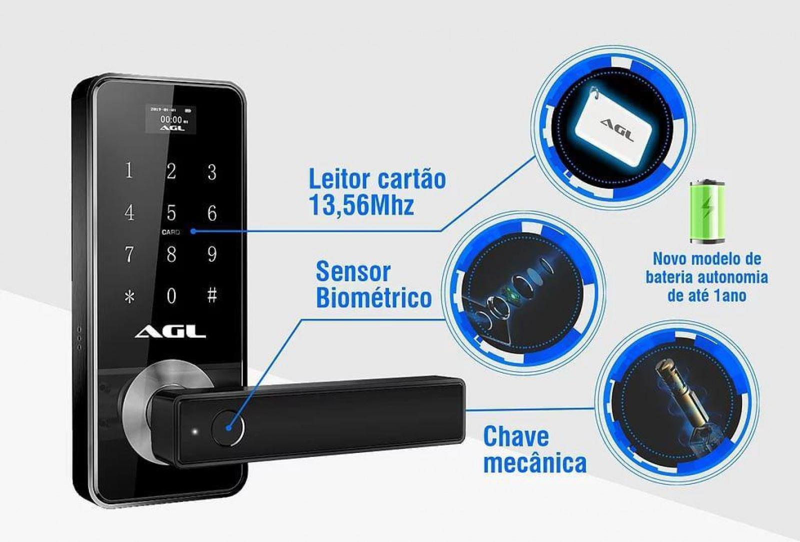 FECHADURA ELETRONICA DIGITAL H11 AGL