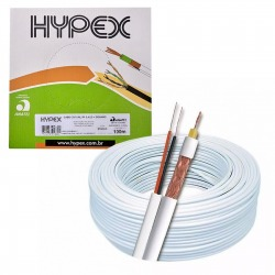 CABO COAXIAL CFTV HYPEX 4MM CX 100M DUPLA BLINDAGEM